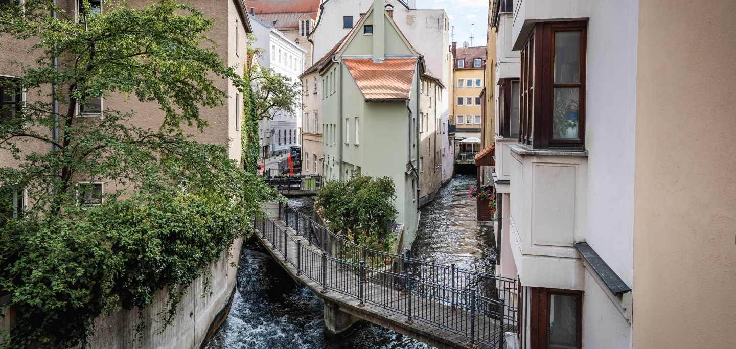 Eastern and Middle Lech in the old town of Augsburg ©Martin Augsburger/Stadt Augsburg