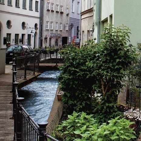 An example for the Lech canals in the old town of Augsburg